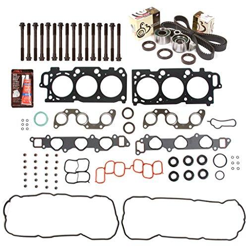 Evergreen HSHBTBK2049 Head Gasket Set Head Bolts Timing Belt Kit Fits 04-10 Toyota Lexus 3.3 DOHC ()