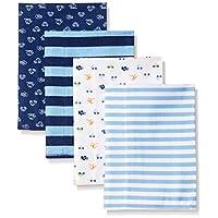 Gerber Baby Boys' 4 Pack Flannel Burp Cloths, Transportation, One Size