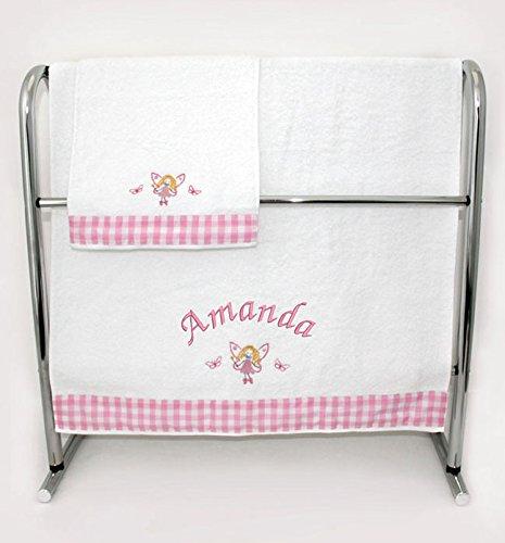 Personalizado toalla de mano y baño bebé con bordado diseños Pink - Personalised: Amazon.es: Bebé