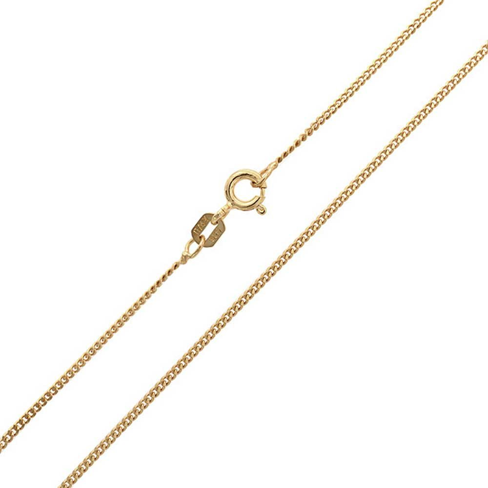 Bling Jewelry Unisex Gold Plated Italy Curb Cuban Chain CHY-CURB035-G-14