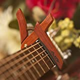 Wooden Guitar Capo for Acoustic Guitars Bloodwood - Handmade in the USA