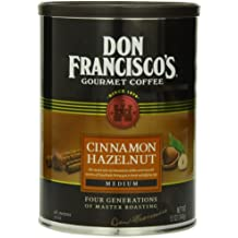 Don Francisco's Cinnamon Hazelnut, Sweet and Smooth, 100% Arabica Coffee Beans, Flavored Coffee, Medium Roast, Ground, 12-Ounce Can
