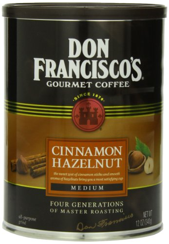 (Don Francisco's Cinnamon Hazelnut, Premium 100% Arabica Coffee, Flavored, Medium-Roast, Ground, 12-Ounce Can)