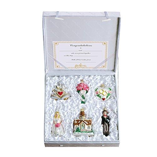 Bridal Ornaments (Old World Christmas Wedding Collection Ornament Box Set)
