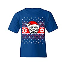 Santa StormTrooper Star Wars Parody Youth T-shirt Ugly Sweater Cool Tee