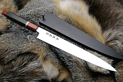 Yoshihiro-Hayate-ZDP-189-Super-High-Carbon-Stainless-Steel-Sujihiki-Slicer-Knife-Octagonal-Ebony-Wood-Handle-with-Sterling-Silver-Ring
