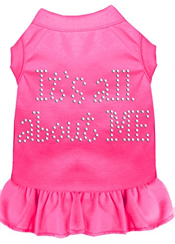 Mirage Pet Products Rhinestone All About Me Dress, Small, Bright Pink