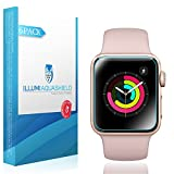 WIRELESS_ACCESSORY  Amazon, модель Apple Watch Screen Protector 38mm [6-Pack], (Series 3/2/1 Compatible) ILLUMI AquaShield Full Coverage Screen Protector for Apple Watch HD Anti-Bubble Film Military-Grade Self-Healing UV-Resistant, артикул B0748P4M5H