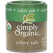 Simply Organic Celery Salt Certified Organic, 0.85-Ounce Containers (Pack of 6)