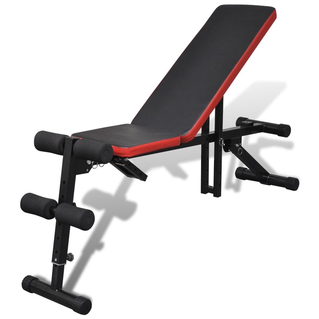 vidaXL Adjustable Foldable Sit Up AB Incline Abs Bench Flat Weight Press Gym Exercise