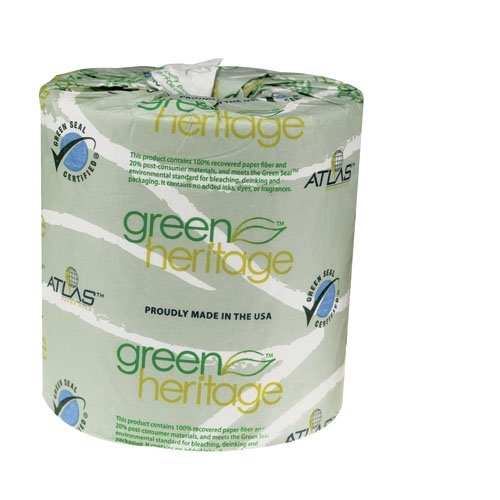 "Green Heritage 276 2-Ply Bathroom Tissue, 4.1"" Length x 3.1"""