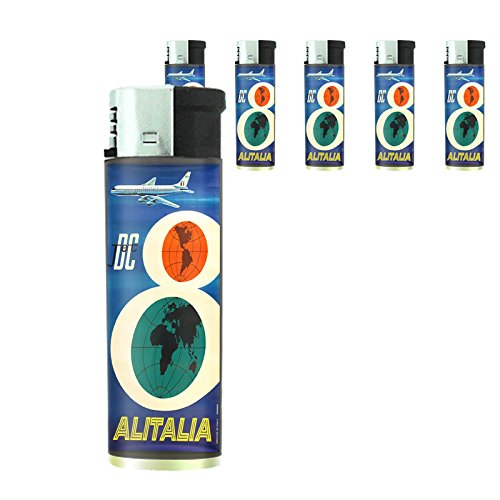 refillable-electronic-lighter-set-of-5-pieces-d-076-dc-jet-airlines-alitalia