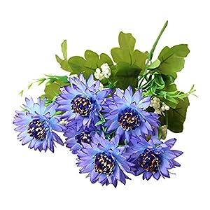 shengyuze Silk Flower Artificial Fake Flowers, 1Pc Artificial African Daisy Flower Floral Bouquet Wedding Home Garden Decor 60