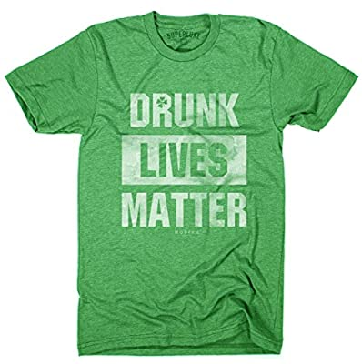 Superluxe&Trade; Mens Drunk Lives Matter ST Patricks Day T-Shirt
