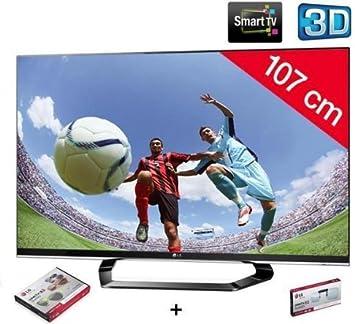 LG Televisor LED 3D 42lm660s HD TV 1080p, 42 Pulgadas (107 cm) 16/9, 400 Hz, DVB-T HD, 3D Ready, Ethernet, HDMI X4, USB 2.0 X3, con WiFi + 3 años de garantía: Amazon.es: Electrónica