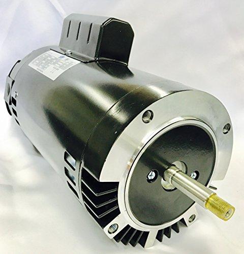 GW YYN5682-L7C 2 HP, 3450RPM, 1.3 Service Factor, 56J Frame, ODP Enclosure, 208-230V, Round Flange Pool (230v 56j Replacement Motor)