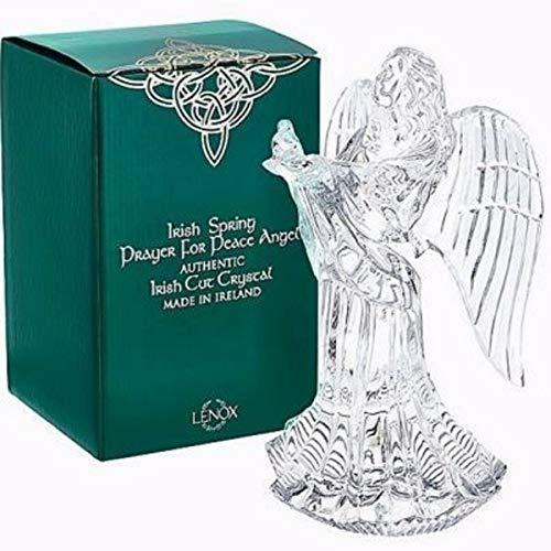 (Lenox Irish Cut Crystal Spring Prayer for Peace Angel With Dove 8