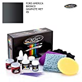 FORD AMERICA BRONCO / GRAPHITE MET - 49 / COLOR N DRIVE TOUCH UP PAINT SYSTEM FOR PAINT CHIPS AND SCRATCHES / PRO PACK
