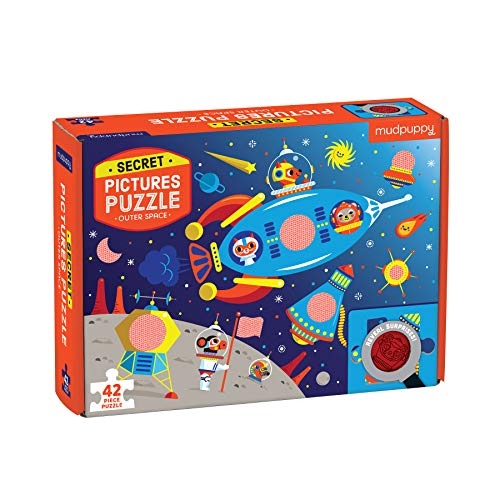 (Mudpuppy 9780735357556 Outer Space Secret Picture Puzzle, Multicolor)