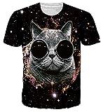 NEWISTAR Teen Boys Funny Glasses Cat Short Sleeve T-Shirt Tees s