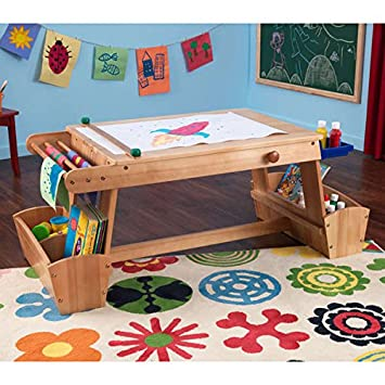 KidKraft Art Table With Drying Rack And Storage, Wood
