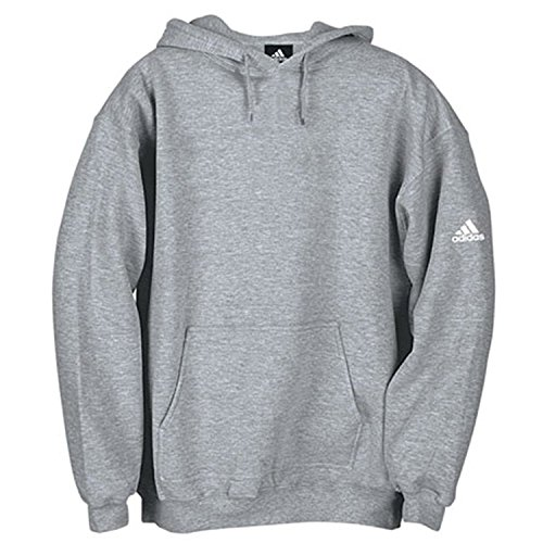 Adidas Men's 10.5 Oz Fleece Hoodie Grey (Small)