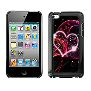 Soft Silicone Rubber Case Hard Cover Protective Accessory Compatible with Apple IPod Touch 4 - Abstract Hear Love