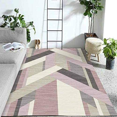 Tsavm Geometric Carpet Superior Modern Collection Area Rug Backing Anti-Static Water-Repellent Rugs -