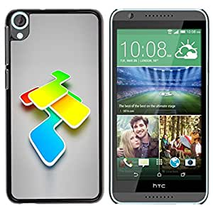 LECELL -- Funda protectora / Cubierta / Piel For HTC Desire 820 -- Abstract Colors --