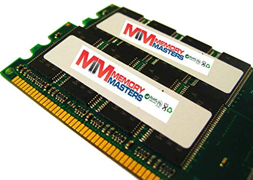 MemoryMasters 343057-B21 4GB Kit 2 x 2GB Memory for HP ProLiant ML370 G4 PC2-3200R ECC Registered DDR2-400 240 pin 1.8v DIMM (MemoryMasters)
