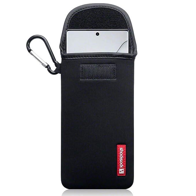 fitBAG Rave Schwarz Handytasche Tasche aus Textil-Stoff mit Microfaserinnenfutter f/ür Samsung Galaxy Note10 Made in Germany Note 10 H/ülle mit Reinigungsfunktion