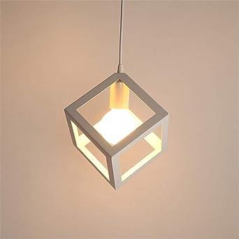 Würfel Lampenschirm Vintage Pendelleuchte E27 Eisen Modern Kreative Schmiedeeiserne Kronleuchter und Deckenleuchte Industrial Hängende Lampe Für die
