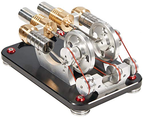 Sunnytech Hot Air Stirling Engine Motor Generator Education Toy Kits Electricity M16-22-D by Sunnytech (Image #4)