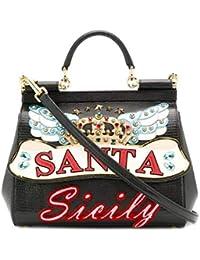 Women's BB6002AV83480999 Black Leather Handbag