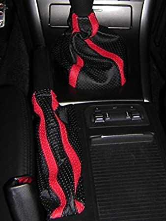 Black Leather-Black Thread RedlineGoods ebrake Boot Compatible with Subaru Outback 2005-09