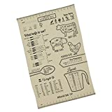 Measure Up Printed Kitchen Measurements and Tips Dishtowel