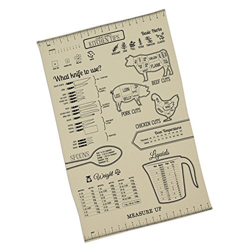 Measure Up Printed Kitchen Measurements and Tips Dishtowel by Design Imports