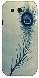 Snoogg Pluma Abstracta Diseñador Protectora Volver Funda Para Samsung Galaxy S3