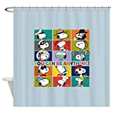 CafePress - Snoopy-You Can Be Anything - Decorative Fabric Shower Curtain
