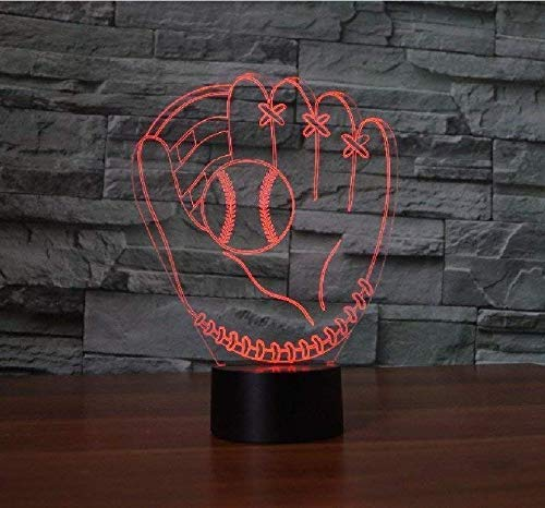 3D Baseball Gloves Night Light Lamp 7 Color Change for sale  Delivered anywhere in Canada