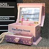 Alytimes Friendship House Jewelry Music Box Mechanical Ballerina Girl Music Box