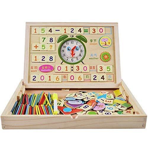 [해외]유아 교육을 위한 나무 몬테소리 수학 장난감 디지털 막대기 학습 상자 / Wooden Montessori Math Toy Digital Stick Learning Box for Early Childhood Education