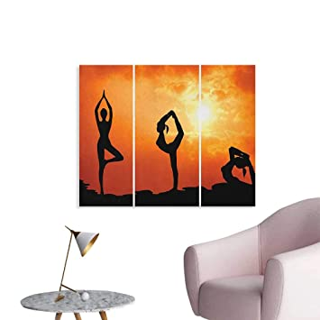 Amazon.com: Anzhutwelve Yoga Wall Picture Decoration ...