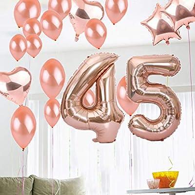 Amazon.com: Dulce 45 cumpleaños decoraciones fiesta ...
