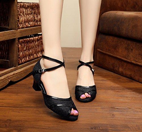femme Heel bal Salle Miyoopark Black de 5cm wtxHTqSWnO