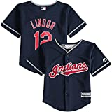 Francisco Lindor Cleveland Indians Toddler Cool Base Alternate Navy Replica Jersey
