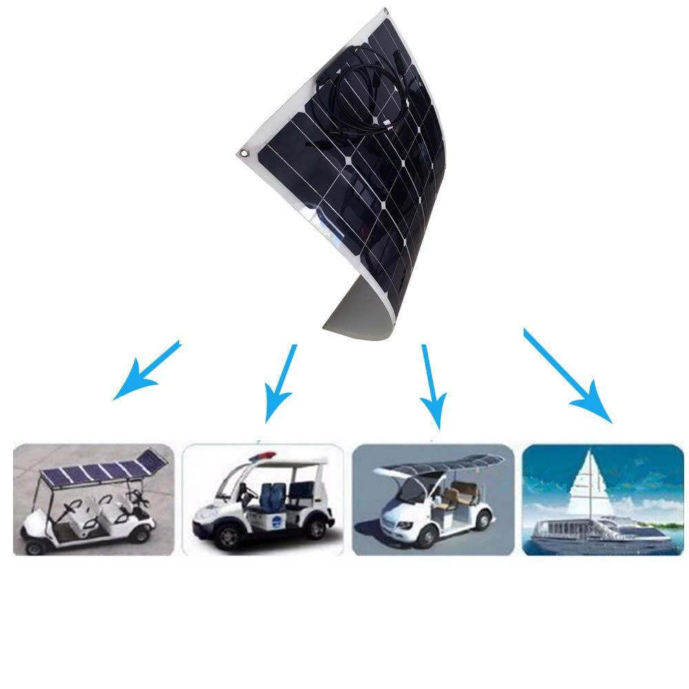 Motorhome Camp 90W Flexible Solar Panel 12V Monocrystalline Cells for RV Off-grid Sunpower System Boat