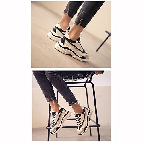 No Shoes Coreana Xiaolin Studente Sportive Nero Bianco Corsa Versione Da 55 Scarpe Donna Sr5FxSq