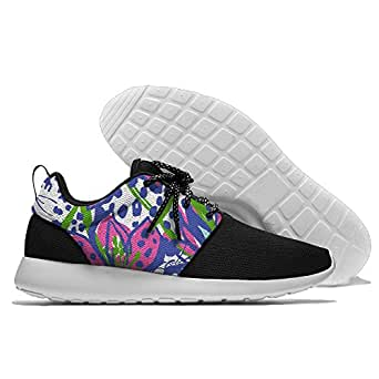 Lilly Pulitzer Painting Men's Mesh Running Shoes Sneakers Casual Athletic Workout Fitness Sports Shoes Trainers 44