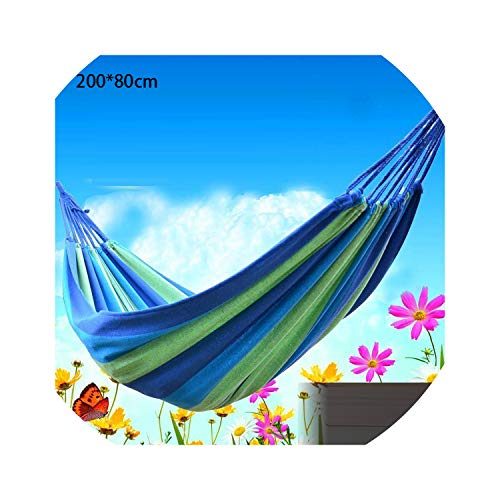 Fall In Love Thicken Canvas Garden Swing Hammock Outdoor Single 2 Person Dormitory Camping Hammocks 20080 200100 200150cm Hanging Chair,B80 ()